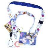 Disney Beauty and the Beast Lanyard KeyChain ID Pocket with Charm