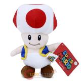Super Mario Bros Toad Mushroom Plush Doll