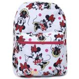 Disney Minnie Mouse Large School Backpack All Over Prints Bag White
