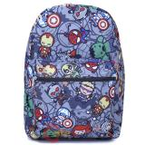 Marvel Kawaii Heroes AOP Large School Backpack Grey