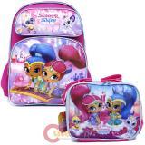 Shimmer and Shine Large School Backpack Lunch Bag Set - Flying