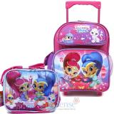 "Shimmer and Shine 12"" Small School Roller Backpack with Lunch Bag Set"