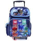 """PJ Masks Large School Roller Backpack 16"""" Trolley Rolling Bag"""