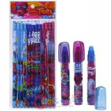 Dream Works Trolls Pencil Fragrance Eraser 15pc  Set