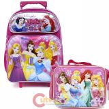 Disney Princess Large School Roller Backpack with Lunch Bag Set