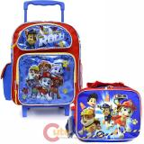 "Nickelodeon Paw Patrol 12"" Small Roller Backpack with Lunch Bag 2pc Set -Ready Action"