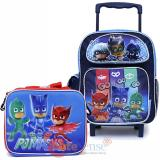 "PJ Masks 12"" Small Roller Backpack with Lunch Bag 2pc Set"