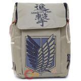 "Attack on Titan Scouting Legion Large School Backpack Canvas 16"" Knapsack Bag"