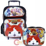 "Yokai Watch 16"" Large School Roller Backpack Lunch Bag 2pc Set"