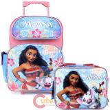 Disney Moana Large School Roller Backpack with Lunch Bag 2pc Set