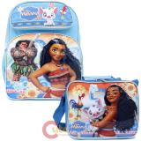 "Disney Moana 16"" Large School  Backpack Lunch Bag 2pc Set with Maui"