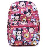 Disney Tsum Tsum Large School Backpack All Over Prints Pink