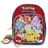 Pokemon Toddler Backpack 10in Bag Red Group