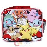 Pokemon School Lunch Bag Insulated Snack Bag Red Group