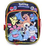 Pokemon Toddler Backpack 10in Bag Pokeball Black Group