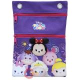 Disney Tsum Tusm Passport Bag Body Shoulder Cross Bag - Purple