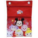 Disney Tsum Tusm Passport Bag Body Shoulder Cross Bag - Red
