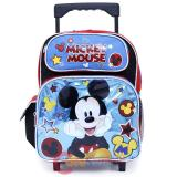 "Disney Mickey Mouse Roller Backpack 12"" Toddler Small Bag -Mickey Stars"