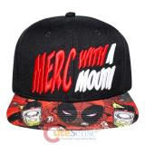 Marvel Deadpool Snapback Hat Trucker Flat Bill Cap- Merc With a Mouth