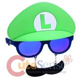Super Mario Luigi Sunglasses Shades Halloween Mask Eye Glasses