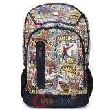 Marvel Comics Heroes Retro Large School Backpack Laptop Bag