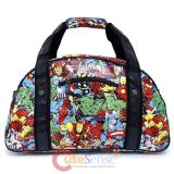 Marvle Comics Heroes Retro Gym Bag Leather Duffle Shoulder Bag