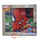 Marvel Comics Passport Case Cover Lugggage Tag Set