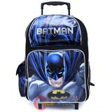 "DC Comics Batman Roller School Backpack 16"" Large Rolling Bag"