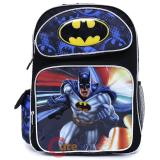 "DC Comics Batman Large School Backpack 16"" Book Bag"