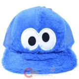 Sesame Street Cookie Monster Snapback Plush Face Meshback