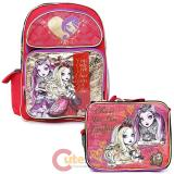 Ever After High  Large School Backpack Lunch Bag Set -Foever High