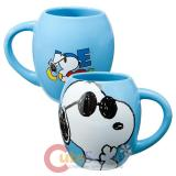 Peanuts Snoopy Oval Ceramic Mug -Joe Cool