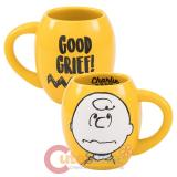 Peanuts Charlie Brown Oval Ceramic Mug Joe Cool
