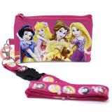 Disney Princess Lanyard Coin Wallet with Tangled -Hot Pink