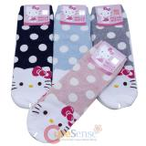 Hello Kitty Socks 4 Pair Set - Polka Dots