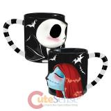 The Nightmare Before Christmas Jack & Sally 2pc Sculpted Mug Set