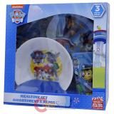 Paw Patrol Kids Dining  Dinnerware Set 3pc Plate Bowl Tumbler Set