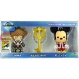 Kingdom Hearts 3 Piece 3D Foam Key Ring Set