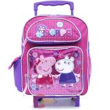 "Peppa Pig Toddler School  Backpack 12"" Small Roller Bag -Glitter"