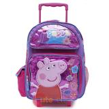 "Peppa Pig 16"" Large School Roller Backpack -Glitter"