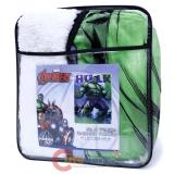 Marvel Hulk Sherpa Plush Blanket Twin Throw (59x79)