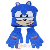 Sonic The Hedgehog  Beanie Gloves Set -Face