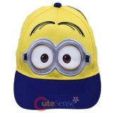 Despicable Me Minion Face Hat Adjustable Snap Back Kids Baseball Cap -2 Eyes
