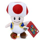 Super Mario Bros Toad Mushroom Plush Doll Meidum