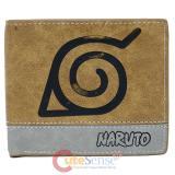 Naruto Logo Leather Bi Fold Wallet