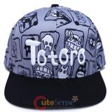My Neighbor Totoro Snapback Hat AOP Trucker Flat Bill Cap