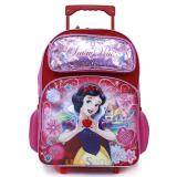 "Disney Princess Snow White Large School Rolling  Backpack 16"" Roller Bag"