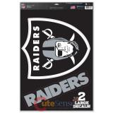 NFL Oakland Raiders Window Clings Decal Sheet 11x17 :Big Logo