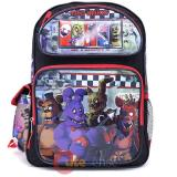 Five Nights at Freddys Large Backpack 16in Book Back Red