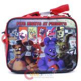 Five Nights At Freddys Lunch Bag FNAF Snack Bag Black Red